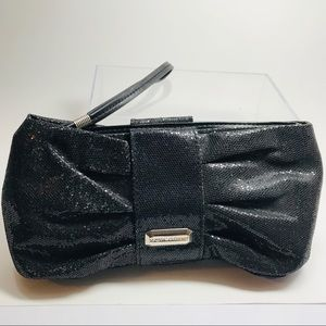 Victoria's Secret Sparkly Black Evening Bag Purse